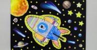 """Szymon Stypułkowski 11 l., Rybnik – """"Planety i podróże kosmiczne"""""""