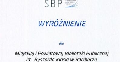 [PL]Biblioteka wyróżniona w ogólnopolskim konkursie