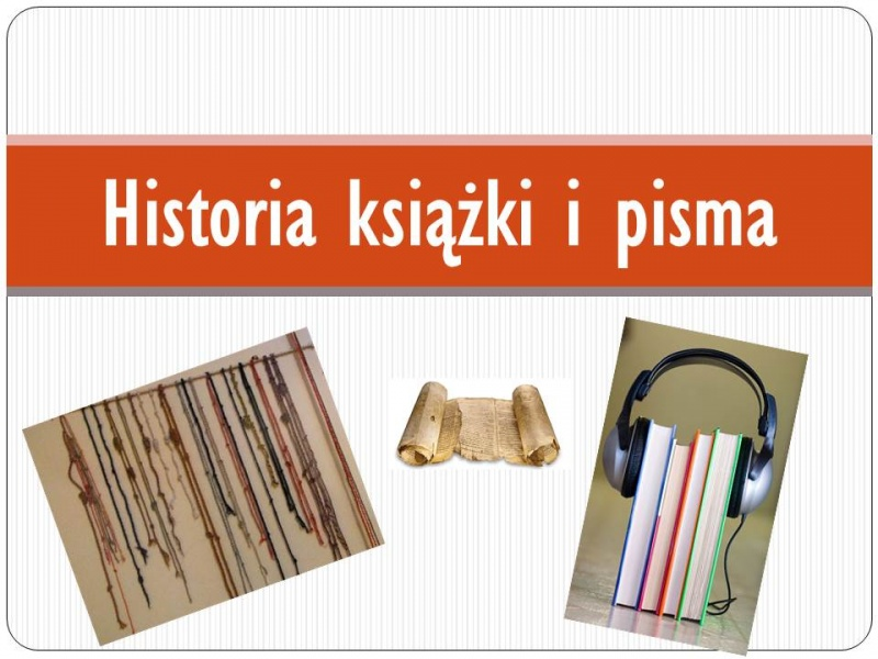 Historia książki i pisma