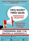 Na co zagłosować? Reklama Budżetu Obywatelskiego w bibliotece