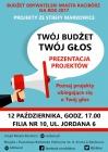 Budżet obywatelski 2017 - prezentacja projektów w Markowicach