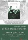 Narodowy Dzień Pamięci Żołnierzy Wyklętych - wykład online dr hab. Mariusza Mazura