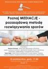 Międzynarodowy Dzień Mediacji i Tydzień Mediacji 2018