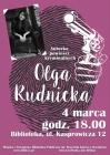 Lubię się bać - spotkanie z Olgą Rudnicką