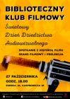 Biblioteczny Klub Filmowy: Światowy Dzień Dziedzictwa Audiowizualnego