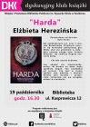 """Dyskusyjny Klub Książki: """"Harda"""" Elżbiety Cherezińskiej"""